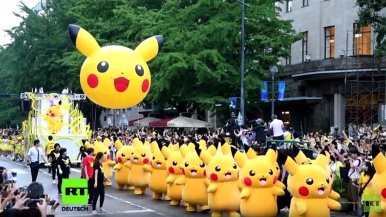 Kannst du sie alle fangen? Über 1.000 Pikachus in Yokohama