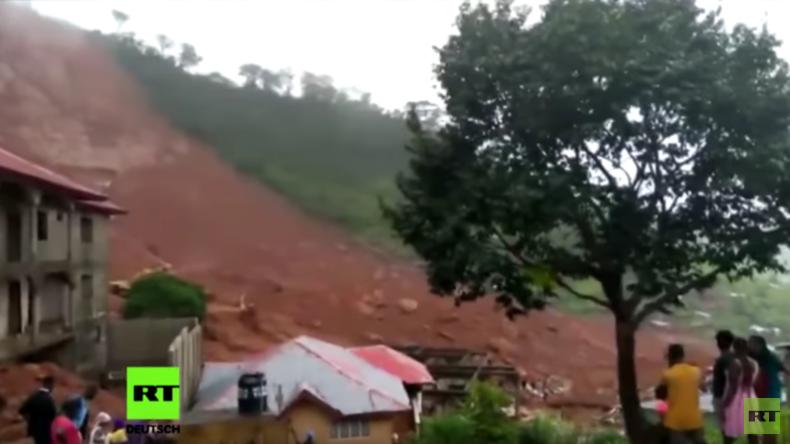 Sierra Leone: Dramatische Aufnahmen aus Freetown nach tödlicher Schlammlawine