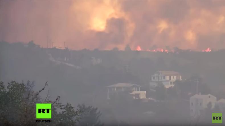 Griechenland: Massive Waldbrände nördlich von Athen