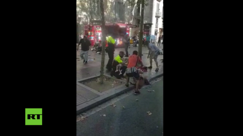 Terror in Barcelona: Überall liegen Verletzte - Erschütternde Bilder von La Rambla