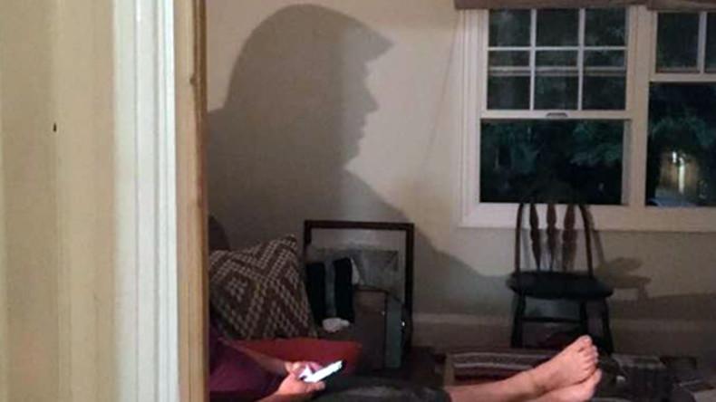 Das ist doch der Präsident! - Internetnutzer scherzen über Trump-Schatten