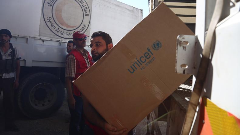 UNO liefert mit Russlands Unterstützung 200 Tonnen Hilfsgüter nach Homs