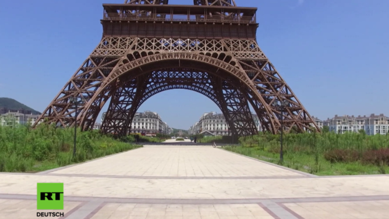So haben Sie Paris noch nie gesehen: Zwillingsstadt in China menschenleer und quasi unbewohnt