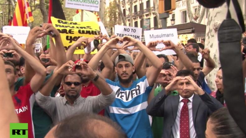 Barcelona: Tausende Muslime protestieren gegen Terror