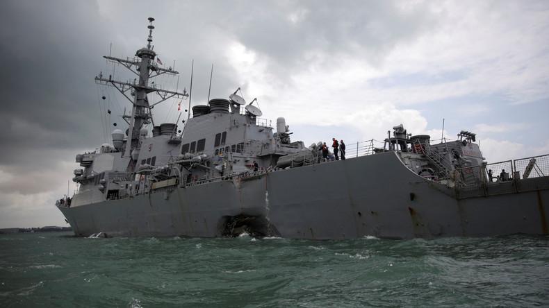 US-Admiral: Mehrere Leichen in Kriegsschiff vor Singapur gefunden