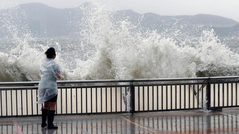 Taifun Hato in Hongkong und Südchina - Höchste Warnstufe nach vielen Verletzten [VIDEO]