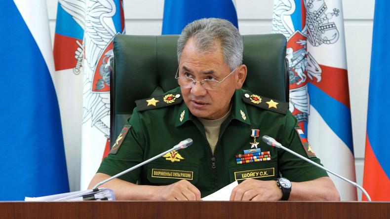 Russlands Verteidigungsminister Sergei Schoigu: Der Bürgerkrieg in Syrien ist faktisch gestoppt