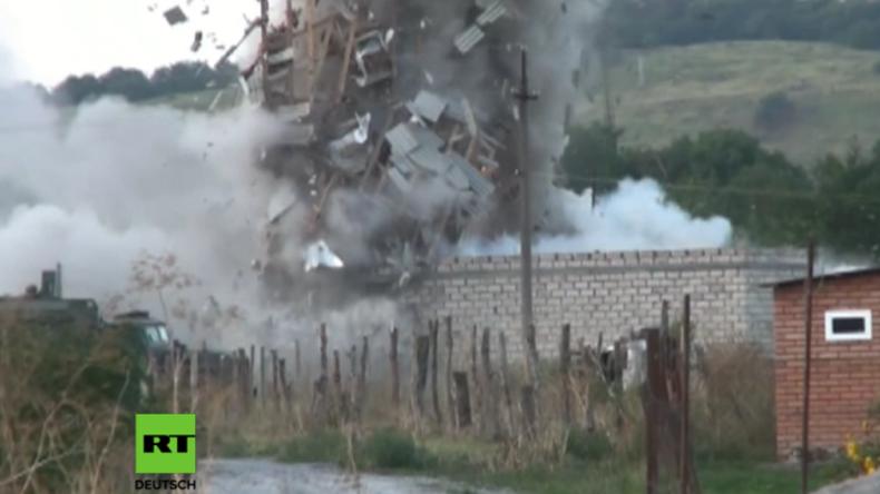 FSB startet Anti-Terror-Operation in Inguschetien: Haus mit Terroristen fliegt in die Luft