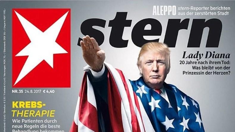 """Klare Symbolik: Nachrichtenmagazin """"Stern"""" stellt Trump als Nazi dar"""