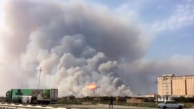 Waffenlager explodiert in Aserbaidschan - Sechs Verletzte [VIDEO]