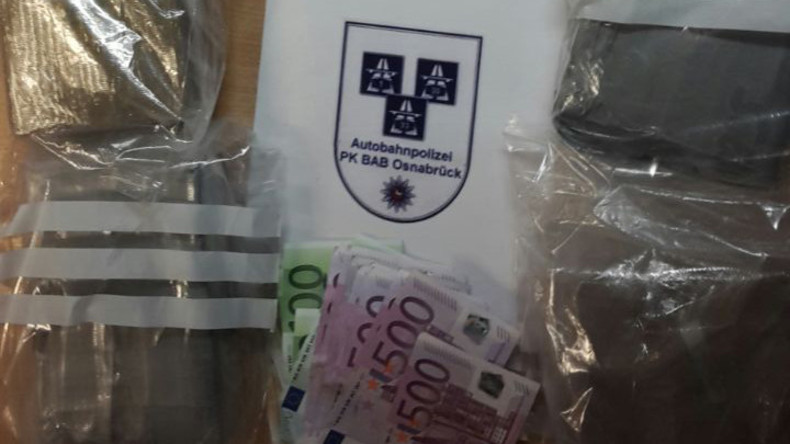 Autobahnpolizei entdeckt bei Osnabrück sieben Kilogramm Kokain