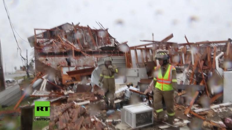 Rockport: Ein Trümmerhaufen nach dem anderen - Hier hat Hurrikan Harvey alles weggefegt