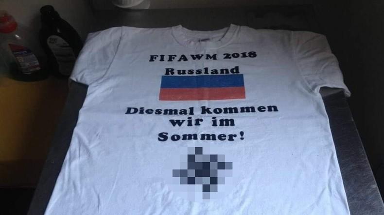 Nazi-Kleidung für Fußballfans: T-Shirts mit Hakenkreuz zur WM 2018 im Internet verfügbar