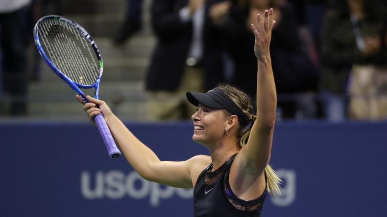 Maria Scharapowa kehrt zurück: Überzeugender Sieg in erster Partie bei US Open