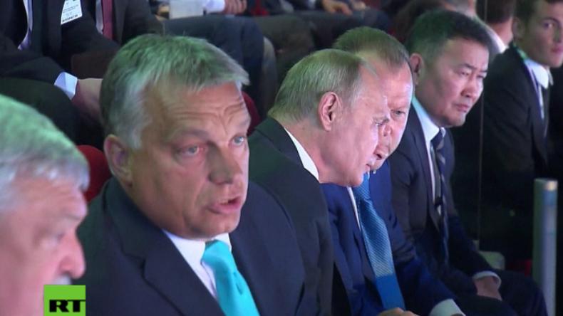Hoher Staatsbesuch aus Russland in Ungarn: Putin und Orban im Judo-Fieber