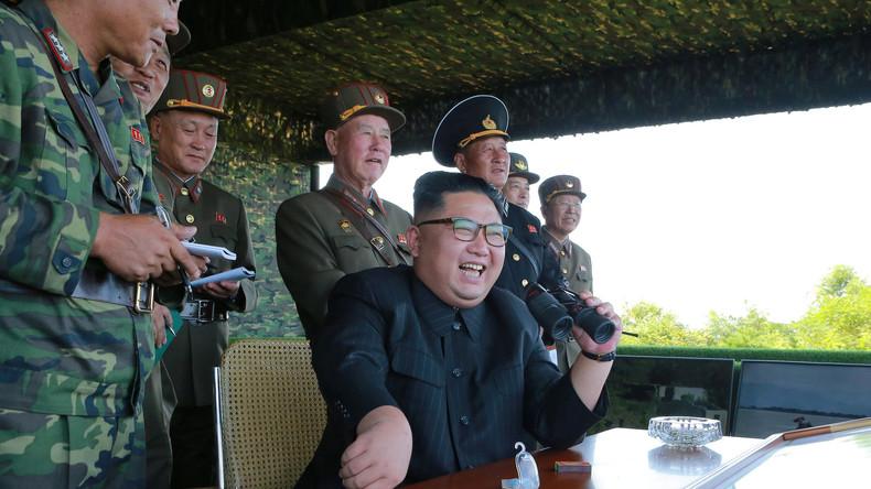 """Kim Jong-uns """"Vorspiel"""": Nordkoreas Führer nennt jüngsten Raketentest Präludium zum Schlag auf Guam"""
