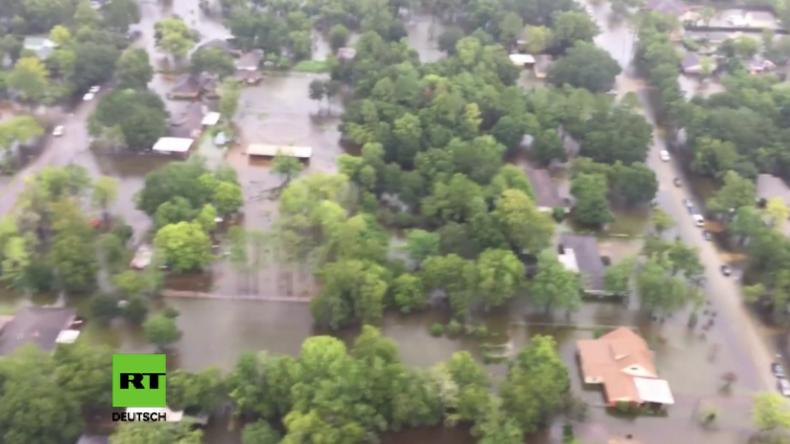 Texas: Luftaufnahmen aus Houston zeigen historisches Ausmaß der Katastrophe nach Hurrikan Harvey