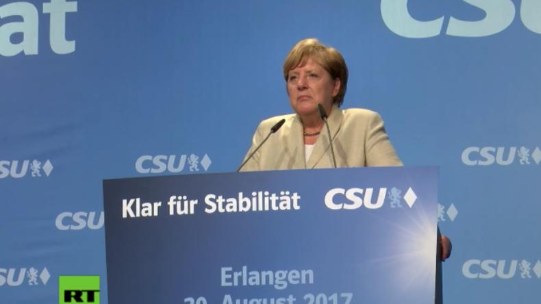 Wieder Pfiffe und Buhrufe – Proteste pflastern Merkels Wahlkampftour durch Deutschland