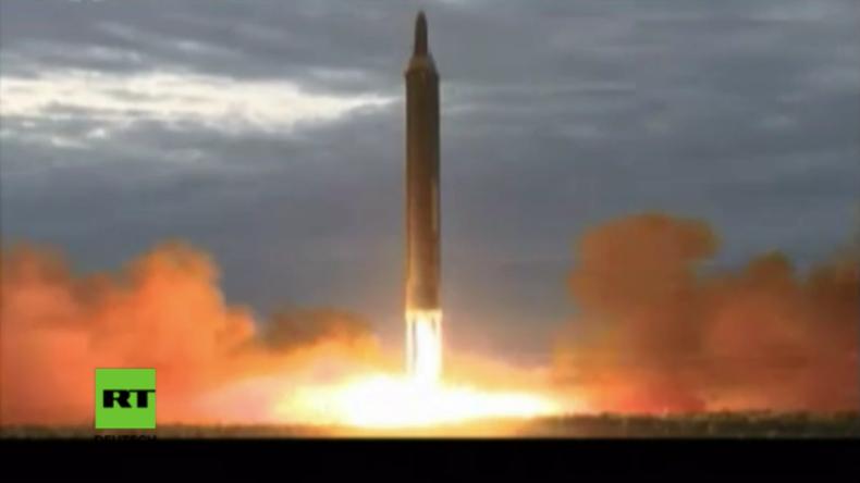 """Video zeigt jüngsten Raketenstart in Nordkorea: """"Notfalls setzen wir alle letzten Mittel ein"""""""