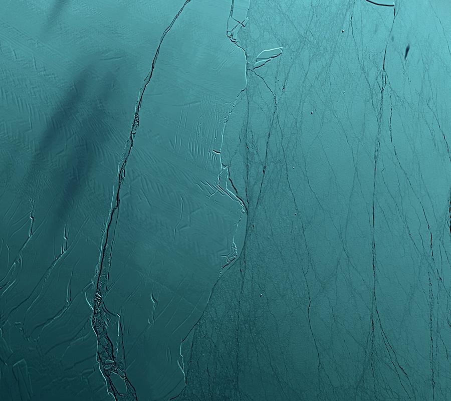 Wunder der Natur: Neue Satellitenbilder des eine Billion Tonnen schweren Eisbergs A68 in Antarktis