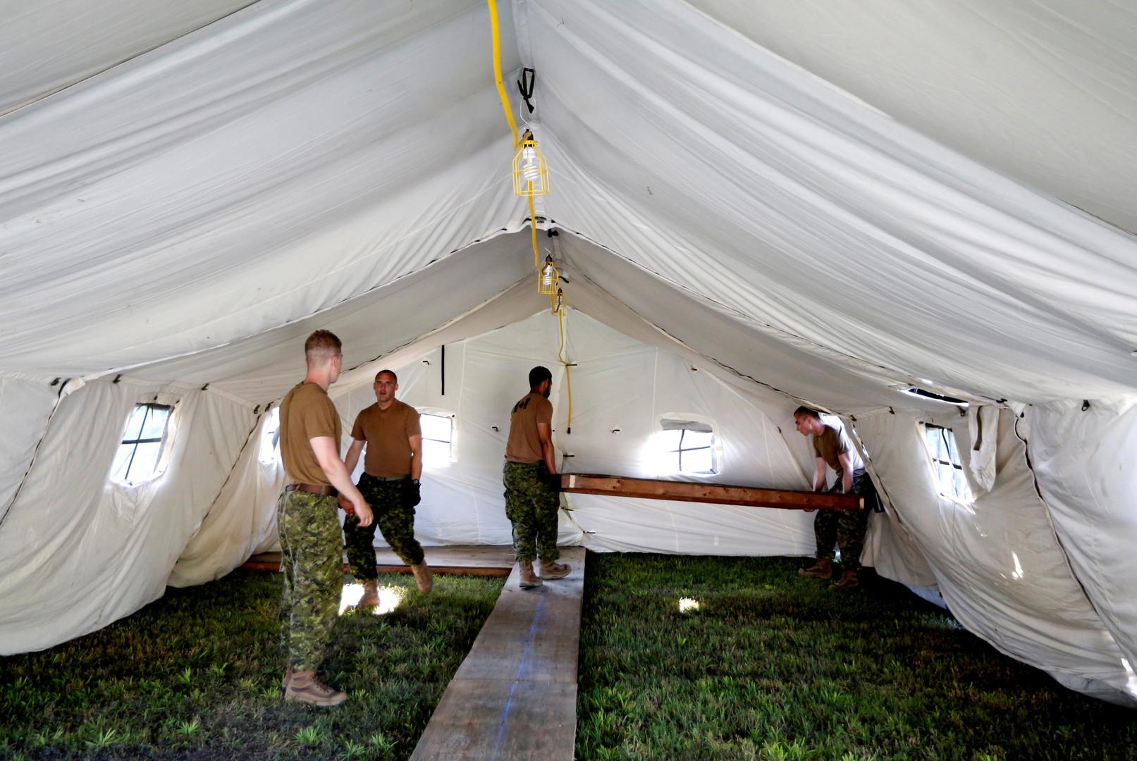 Kanada baut an US-Grenze Zeltlager für Asylbewerber [FOTOS]