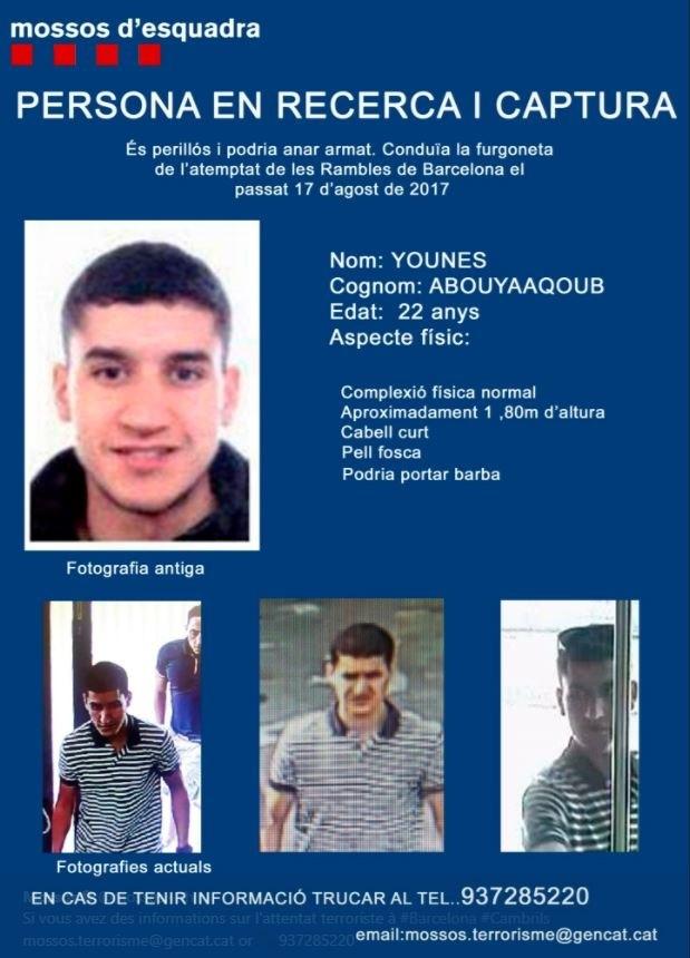Polizei bestätigt: Mutmaßlicher Barcelona-Angreifer Younes Abouyaaqoub von Polizeikräften erschossen