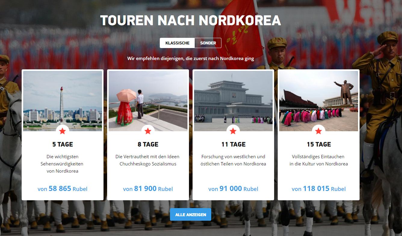"""""""Sicherer als ein Abendspaziergang in London"""" - Russisches Reisebüro bietet Urlaub in Nordkorea an"""