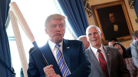 Donald Trump und Mike Pence bei einer
