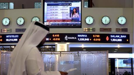 Die Börse in Dubai, Hauptstadt der Vereinigten Arabischen Emirate. Mit großzügigen finanziellen Zuwendungen verschafft sich das Königreich Einfluss auf die Außenpolitik der USA.