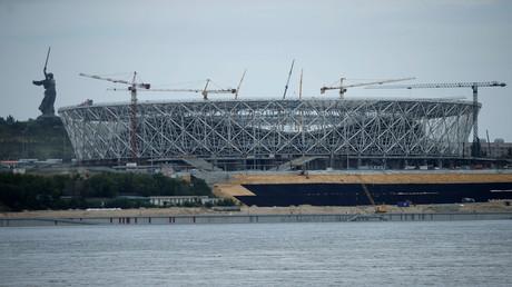 Die sich im Bau befindende Volgograd-Arena für die WM-2018, Volgograd, Russland, 21. Juli 2017.