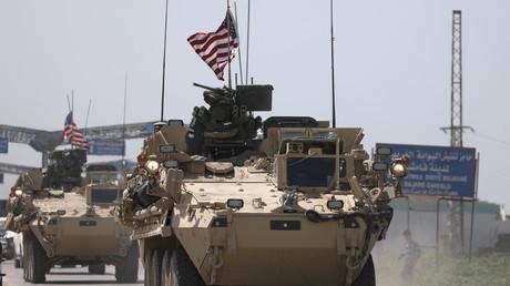 Symbolbild: US-Schützenpanzer in der afghanischen Stadt Qamishli im Nordosten des Landes, April 2017.