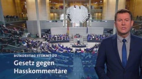 Programmbeschwerde: Bildmanipulation bei Tagesschau zum Netzwerkdurchsetzungsgesetz im Bundestag