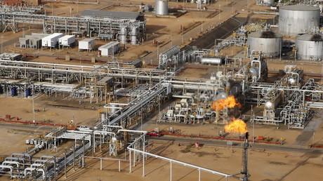 Eine Raffinerie der stattlichen venezolanischen Öl-Gesellschaft PDVSA in der Nähe von Cabrutica im Bundesstaat Anzoategui, 16. April 2016
