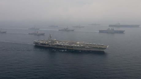 Die ostasiatische Pazifikregion ist Schauplatz wachsender Spannungen zwischen den Großmächten USA und China. Das Bild zeigt eine gemeinsame Übung der US-amerikanischen und japanischen Marine Anfang Juni dieses Jahres.