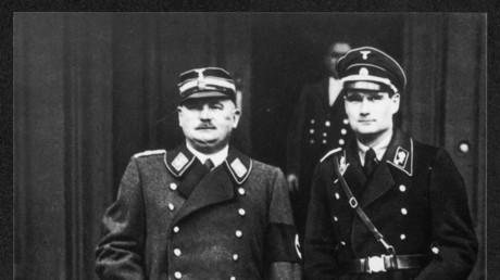 Ernst Röhm (l) und Rudolf Hess 1933