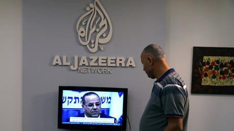 Ein Angestellter von Al Jazeera in Jerusalem, Israel, 7. August 2017.