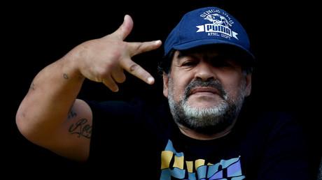 Möchte den Ball gegen die Flinte eintauschen: Diego Armando Maradona.