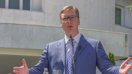 Aleksandar Vučić in Belgrad, Ende Mai als Premierminister und designierter Präsident