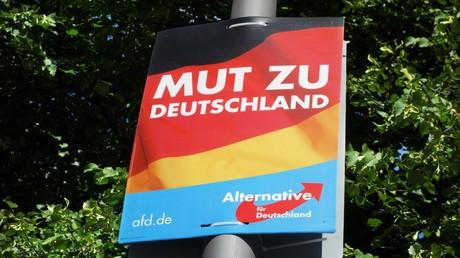 Wahlplakat der rechtskonservativen Partei