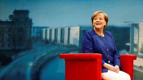 Angela Merkel bei einem ARD-Interview in Berlin, Deutschland, 16. Juli 2017.
