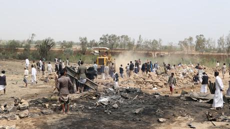 Die Stadt Sa'da im Nordwesten Jemens: Am 4. August hat die saudische Luftwaffe wieder einmal Häuser von Zivilisten dem Erdboden gleichgemacht.