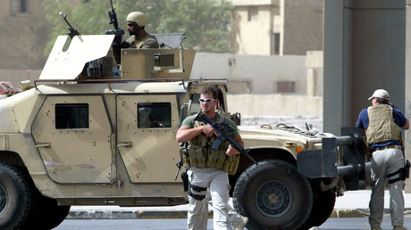 Auftragnehmer der US-privaten Sicherheitsfirma Blackwater in Bagdad. © Ahmad al-Rubaye