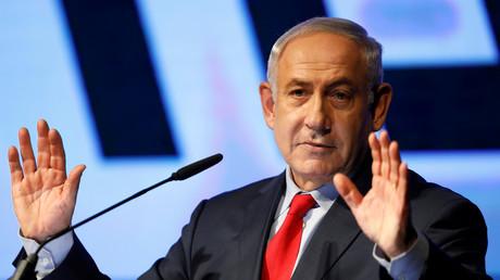 Benjamin Netanjahu spricht bei einer Veranstaltung der Likud-Partei, Tel Aviv-Jaffa, Israel, 9. August 2017.
