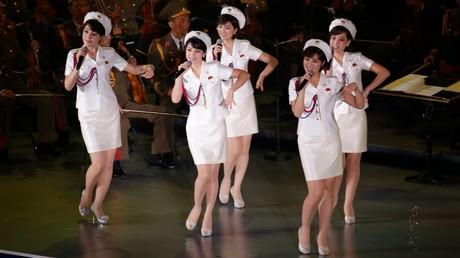 Ein Auftritt der Band Moranbong während eines Parteikongresses in Pjöngjang, Nordkorea, 11. Mai 2016.