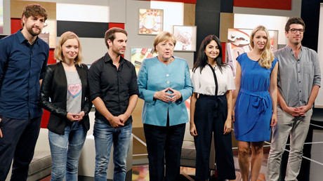 Angela Merkel in der YouTube Zentrale in Berlin, Deutschland, 16. August 2017.
