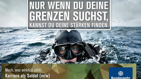Die Bundeswehr wirbt bereits damit, dass Soldaten an ihre Grenzen gehen müssen- wie weit ist vielleicht nicht gleich ersichtlich