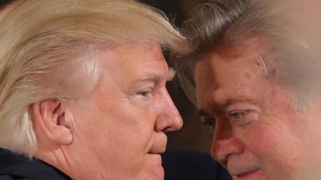 Mutmaßlich noch immer ziemlich beste Freunde. US-Präsident Donald Trump (L) und Breitbart-Chef Steve Bannon