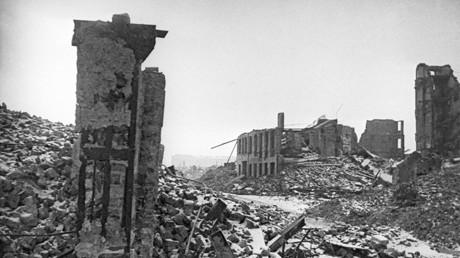 Szenen der Verwüstung in Warschau.