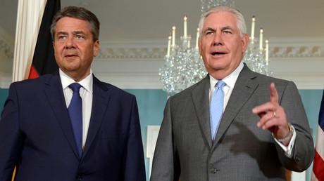 Der deutsche Außenminister Sigmar Gabriel und sein US-Amtskollege Rex Tillerson in Washington