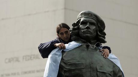 Im Visier der Naumann-Stiftung: Die Bronze-Statue des argentinischen Revolutionärs Ernesto